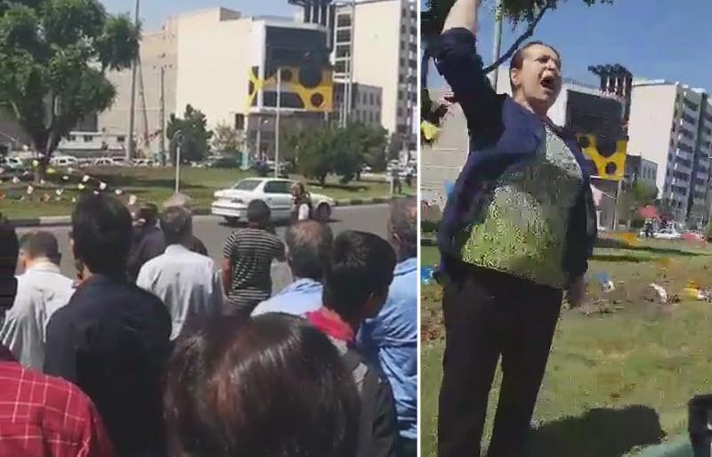 Lady-Chants-Death-to-Khamenei